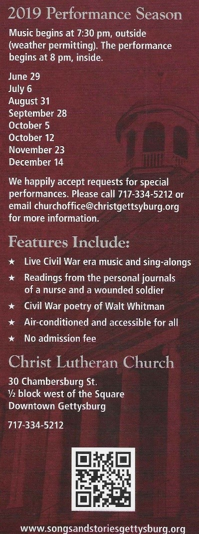 Songs and Stories of a Civil War Hospital - Christ Lutheran