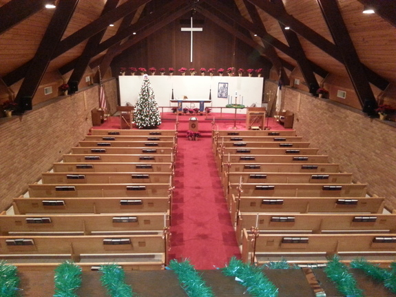 The Sanctuary readied for Christmas!