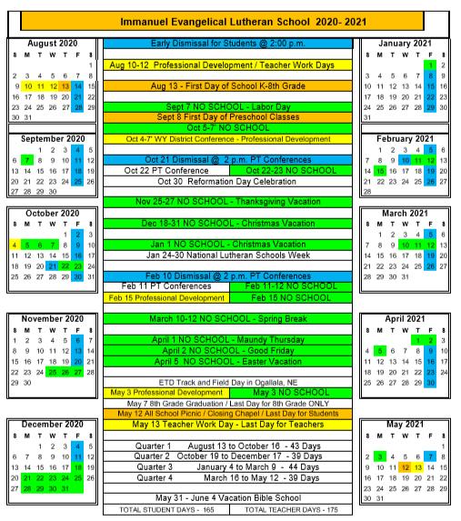 Lutheran Church Calendar 2022.Iels Calendar Immanuel Evangelical Lutheran Church