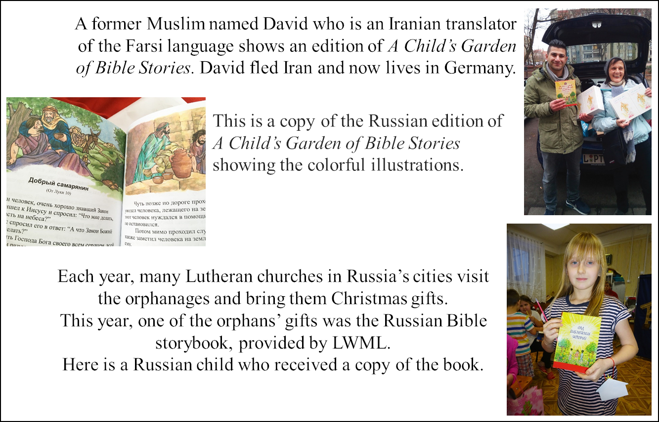 Farsi and Russian versions of A Child's Garden of Bible Stories