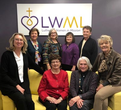 LWML past and current presidents at the LWML Office