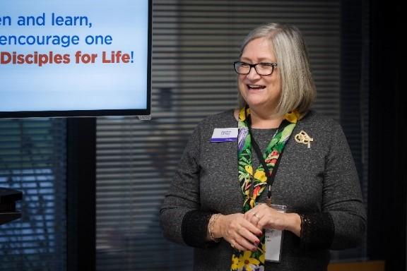 President Debbie Larson at Making Disciples for Life