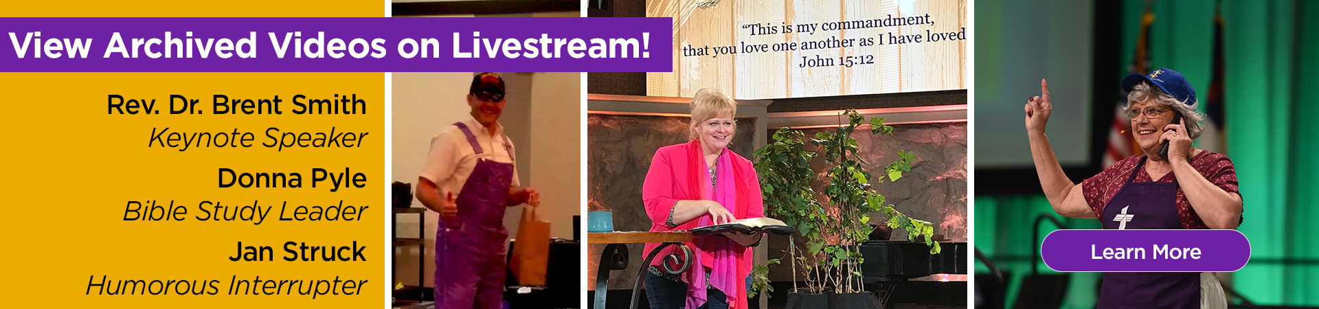 View the archived videos from the 2019 Convention, featuring Rev. Dr. Brent Smith, Donna Pyle, and Jan Struck!