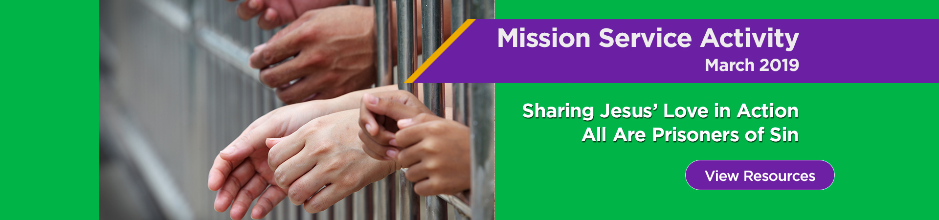 March Mission Service Activity: All Are Prisoners of Sin
