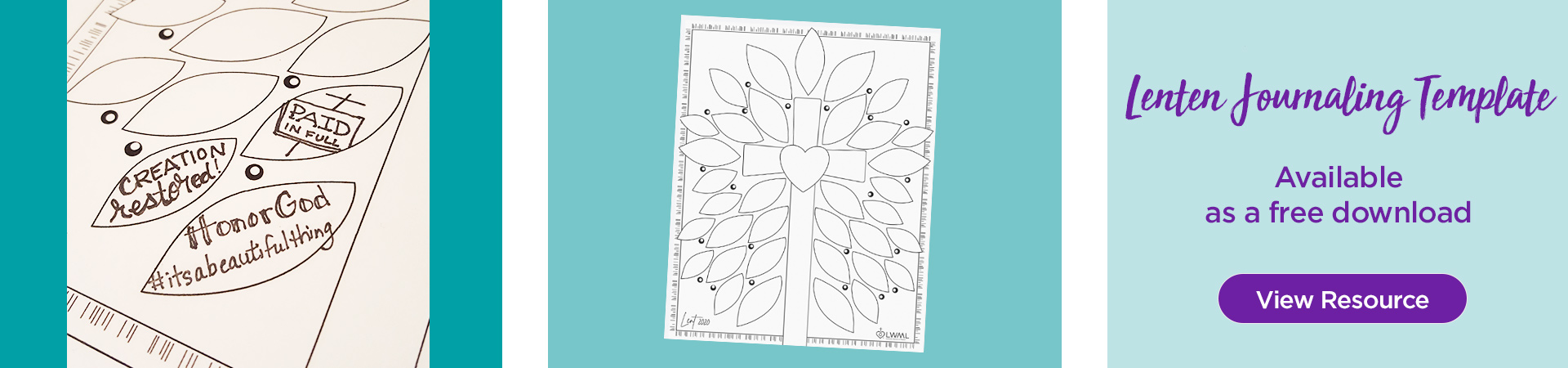 Lenten Journaling Template available as a free download