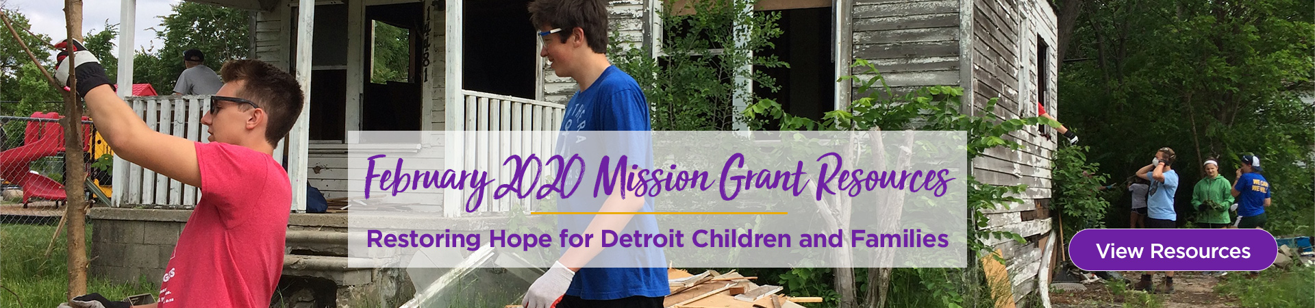 February Mission Grant Resources: Restoring Hope for Detroit Children and Families