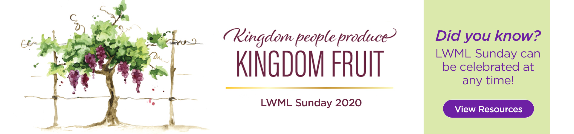 LWML Sunday can be celebrated at any time! View resources here.