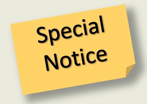 Special Notice Alert