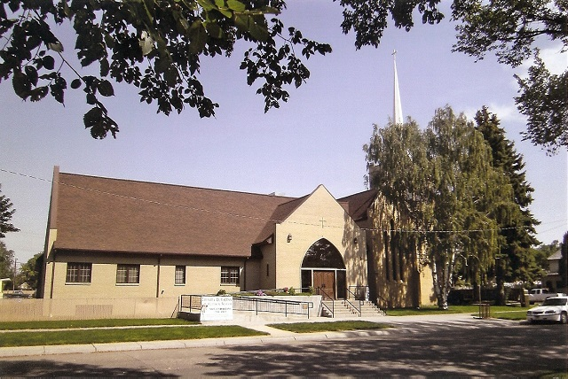 Pearl Street view of Trinity Lutheran Church - Miles City, MT